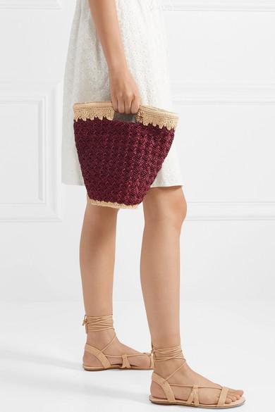 Carrie Forbes raffia bag