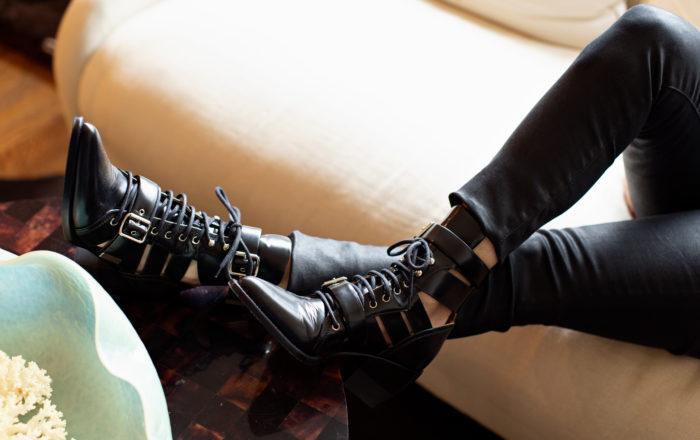 Chloe Rylee buckle ankle boot