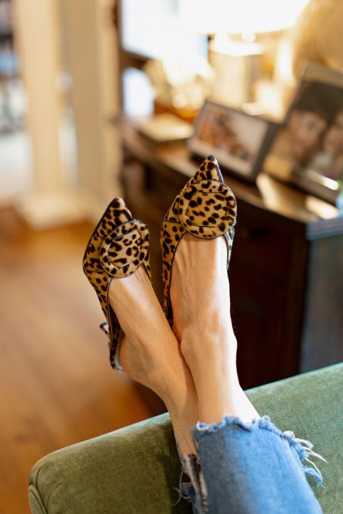 Gianvitto Rossi leopard mules