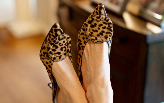 Gianvitto Rossi leopard print mules