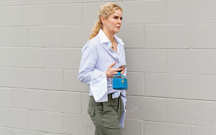 Anna Quan shirt and Nili Lotan Luna pants