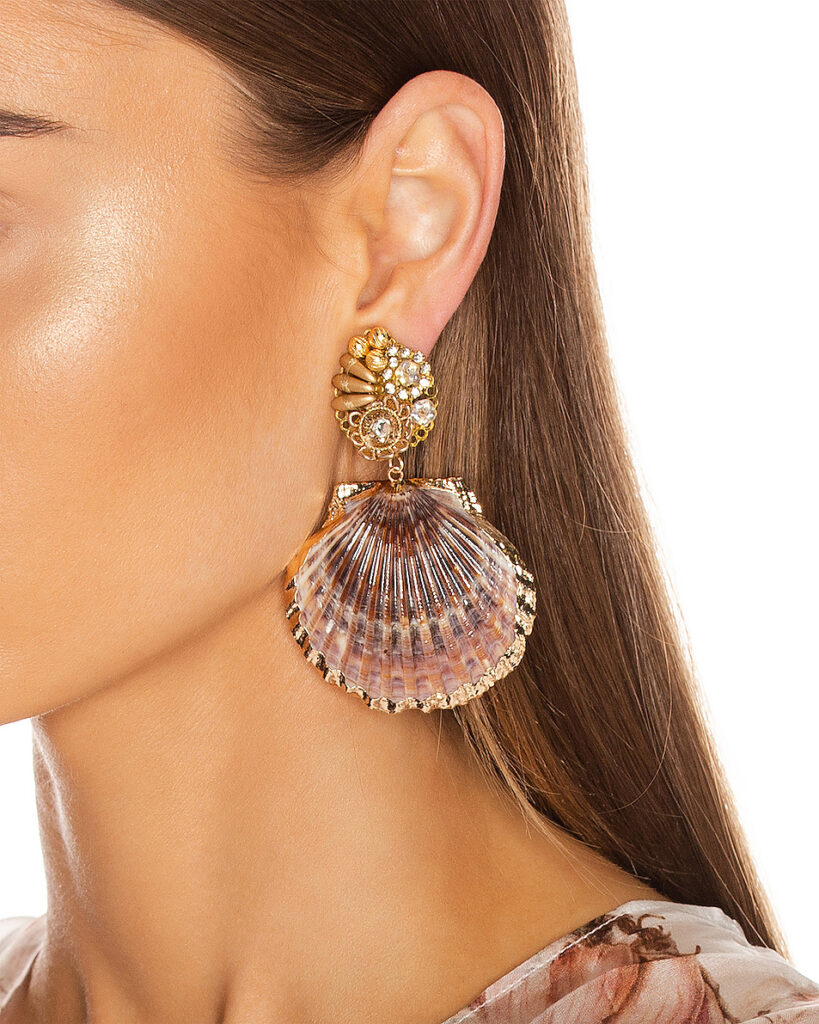 Mercedes Salazar shell earrings