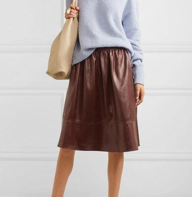 Tibi faux leather skirt