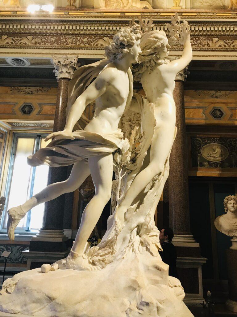 Bernini's Apollo and Daphne in the Borghese Gallery in Rome, Italy